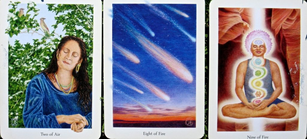 Cards from Gaian Tarot