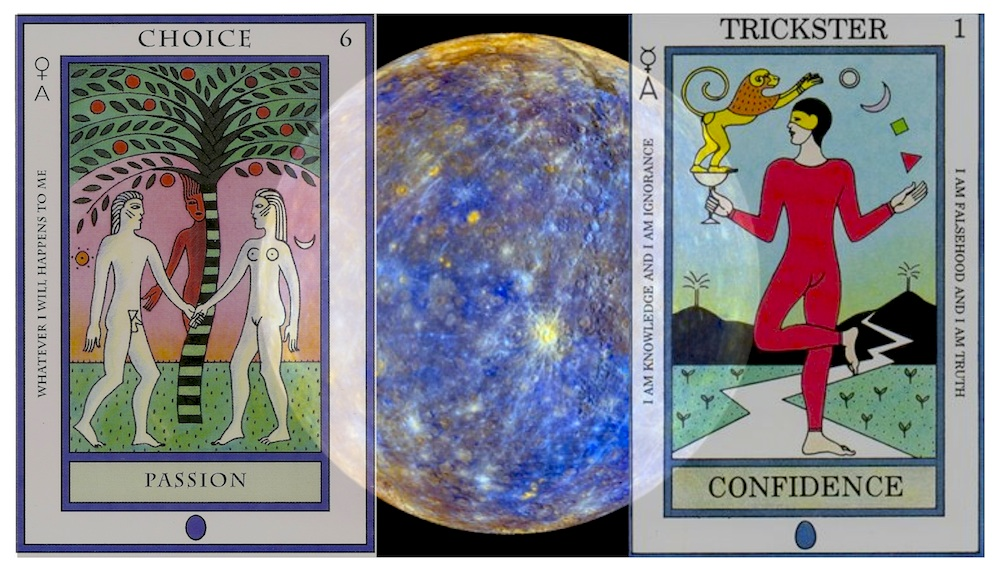 Elemental Tarot and NASA photo of Mercury