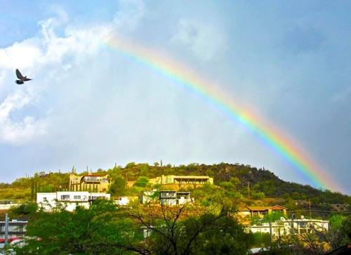 Rainbow Over Red Hawk Hill
